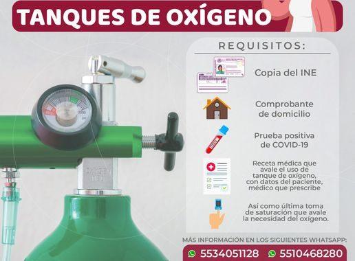RECARGA GRATUITA DE TANQUES DE OXIGENO EN TECAMAC