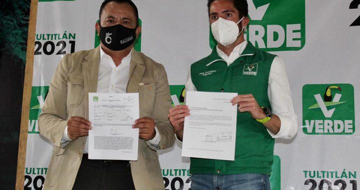 Se adhieren al Partido Verde ex fundador y  ex edil del PRD y ex líder del PRI en Tultitlán