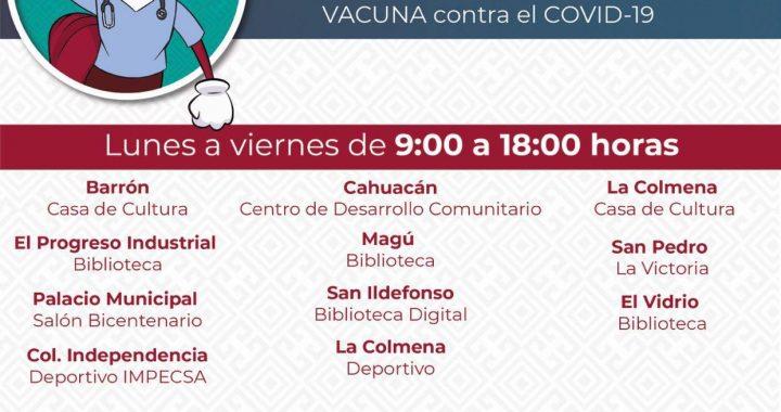 PRIORIZA GOBIERNO SALUD DE CIUDADANOS AL ABRIR 11 MÓDULOS DE REGISTRO PARA VACUNA CONTRA COVID-19