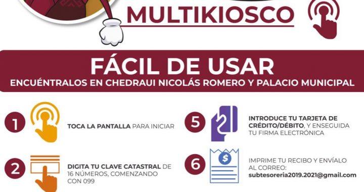 AMPLÍA GOBIERNO MUNICIPAL OPCIONES PARA PAGO DEL PREDIAL MEDIANTE MULTIKIOSCOS DIGITALES