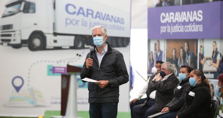 REGRESAN A MODALIDAD PRESENCIAL CARAVANAS POR LA JUSTICIA COTIDIANA QUE LLEVAN TRÁMITES OFICIALES A LOS 125 MUNICIPIOS DEL EDOMÉX