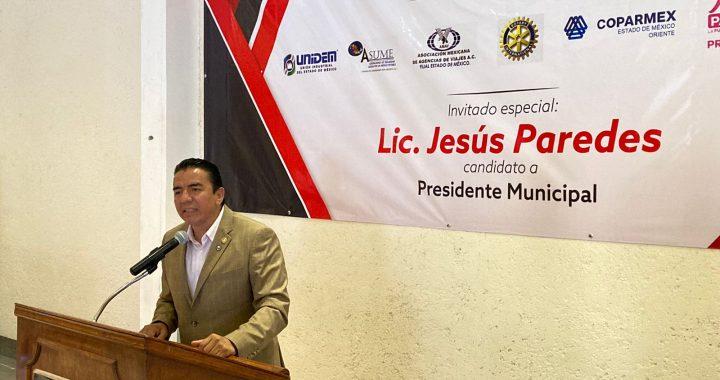 JESÚS PAREDES COMPARTE SUS PROPUESTAS DE GOBIERNO EN ENCUENTRO CON DIRIGENTES DE CÁMARAS EMPRESARIALES DE ECATEPEC