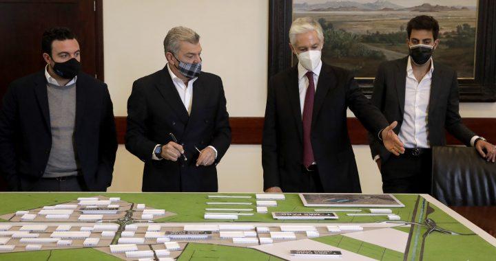 ENCABEZA ALFREDO DEL MAZO PRESENTACIÓN DEL PROYECTO T-MEX PARK, DONDE SE INVERTIRÁN MÁS DE 13 MIL MDP EN PLATAFORMA LOGÍSTICA EN NEXTLALPAN