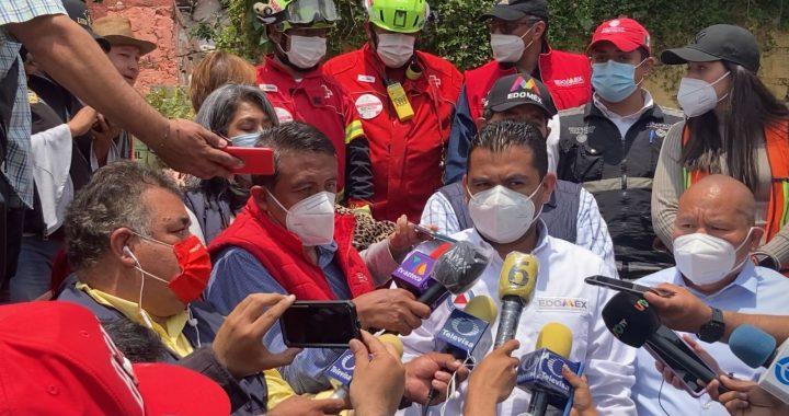 CONTINÚAN LABORES DE BÚSQUEDA EN LA ZONA DEL DESPRENDIMIENTO DEL CERRO DEL CHIQUIHUITE